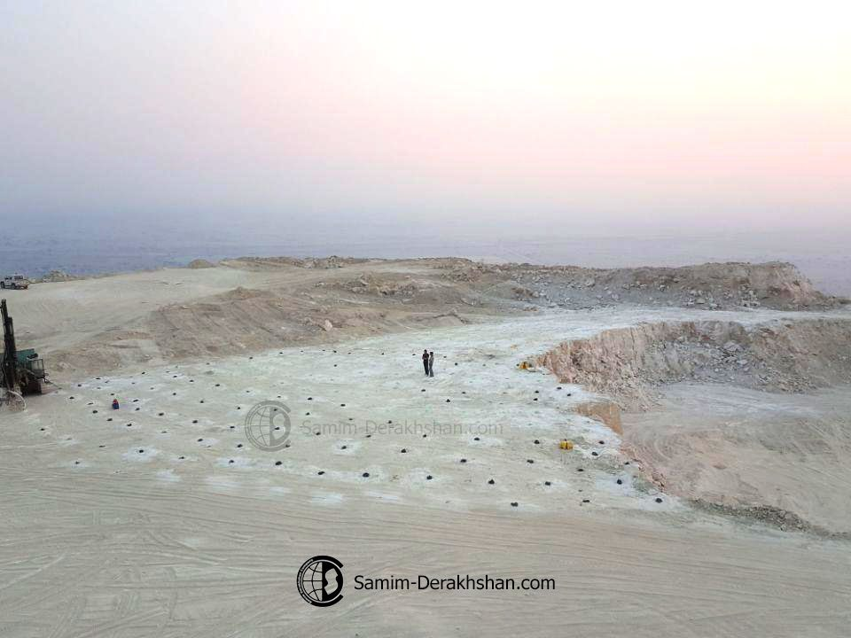 drill and blast samim gypsum