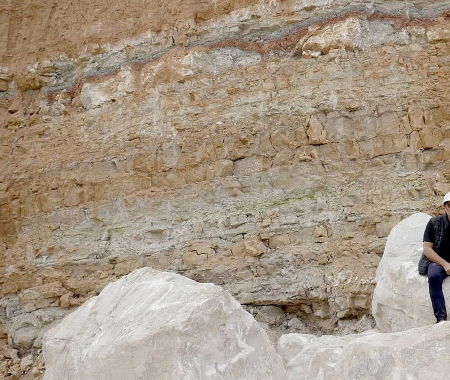 alabaster stone in quarry